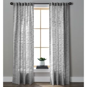 NEW HOMES & GARDENS Textured Stripe Rod Boho Grey